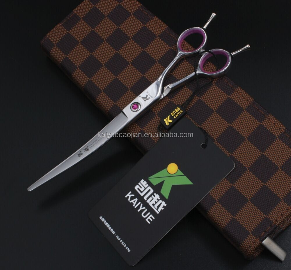 Alibaba.com / Free shipping Top quality pet scissor 440C/ 8 inch curved blade professional pet grooming scissors