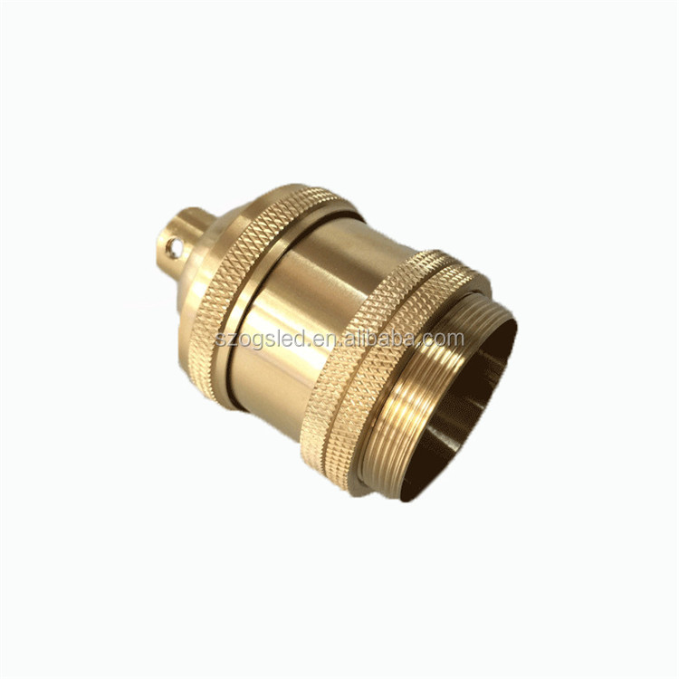 High Quality E26 E27 Polishing Copper Color Edison Bulb Base with Zipper Switch from China Supplier
