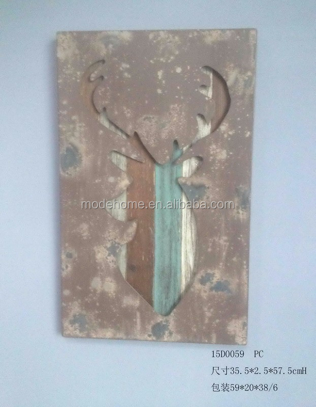 Shabby Chic Wood Carved Wall Plaque
