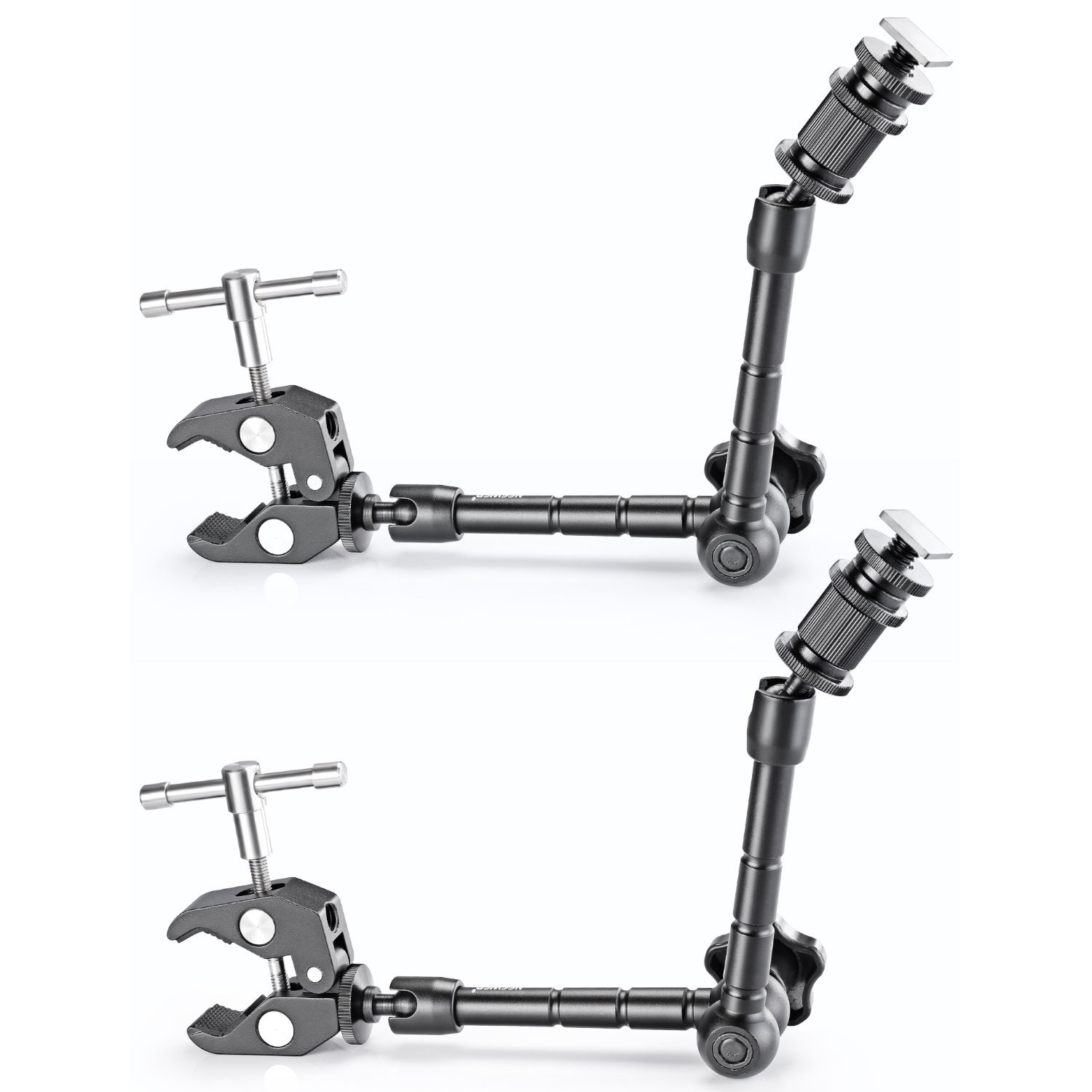 """Neewer 2 PCS 11""""/28cm Adjustable Friction Power Articulating Magic Arm and Large Super Clamp Crab Pliers Clip for DSLR Camera Rig,LCD Monitor,DV Monitor,LED Lights and Flash light"""