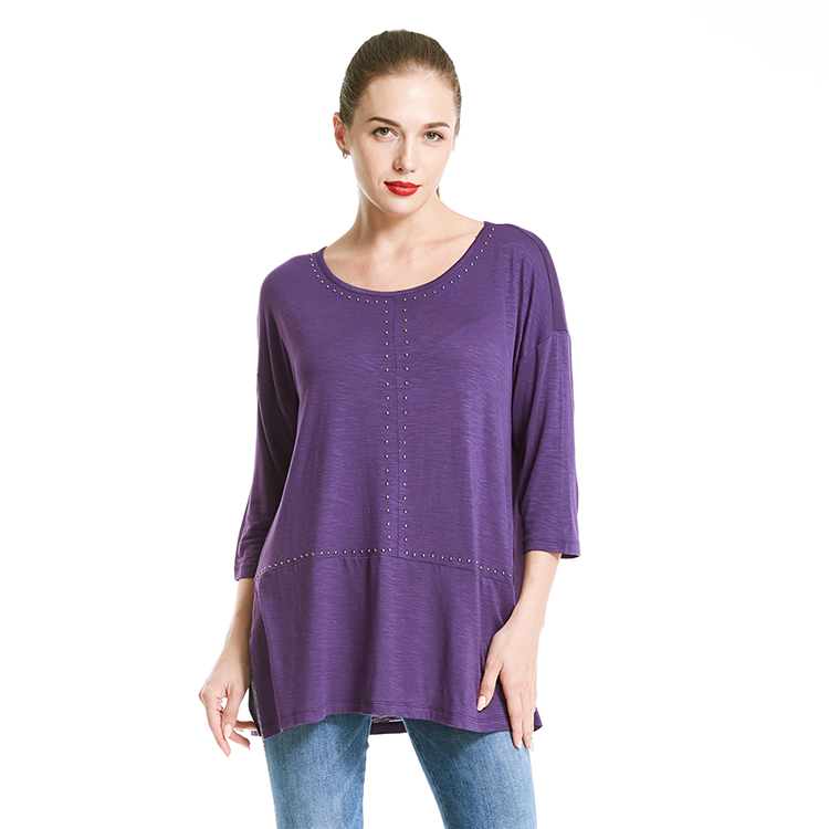 Fashion design vrouwen T-shirt maat grote verfraaid blouse tops