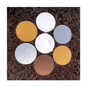 Gold Silver Copper Sublimation Metal Round Circles for Trophy Awards