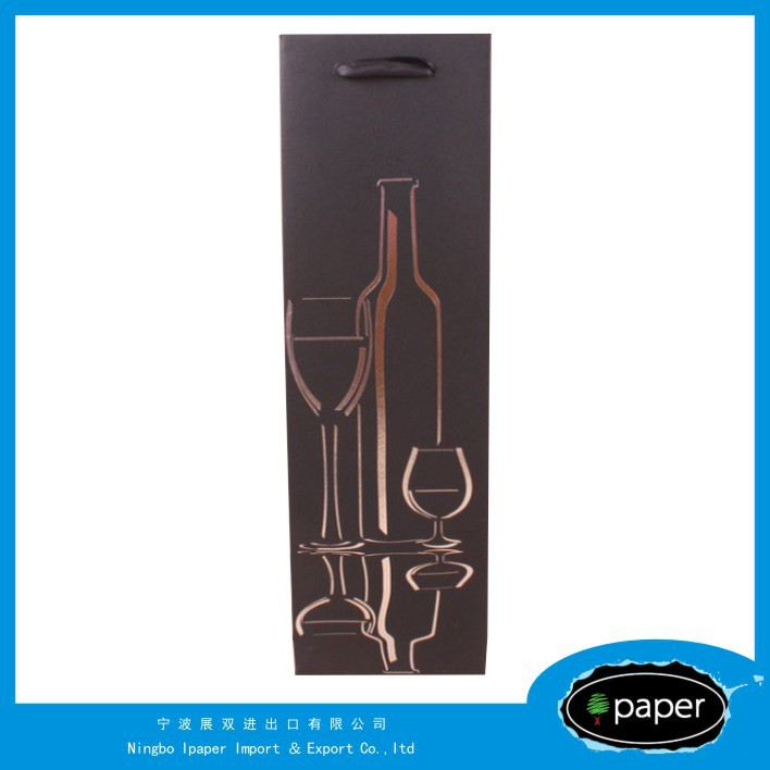 Professional paper bag for wine bottle with CE certificate