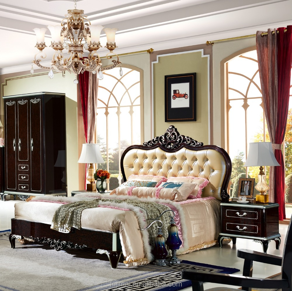New Classical High Gloss Black Painted Bed Room Set - Buy Painted Bed Room  Set,Black Lacquer Bedroom Furniture,New Classical Bedroom Furniture Product  ...