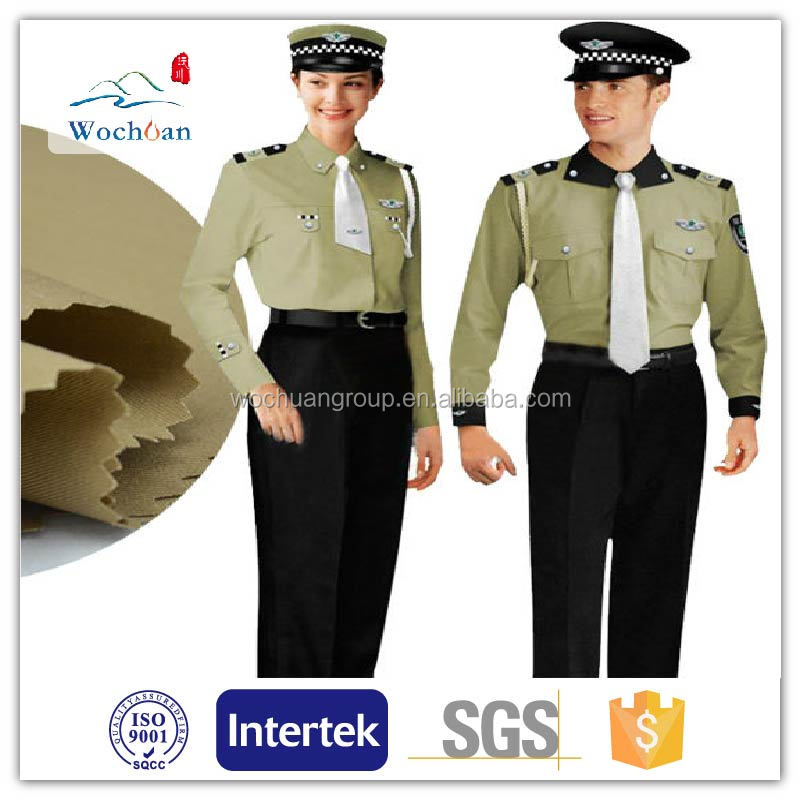 Poly/cotton workwear uniform fabric T65/C35 21X21 108X58 58""