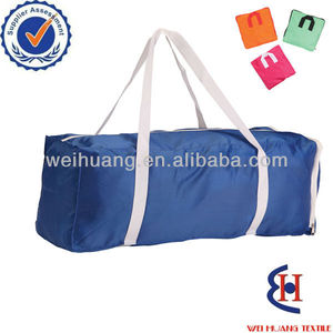 Promotional fold up travel bag with customized printing applicable