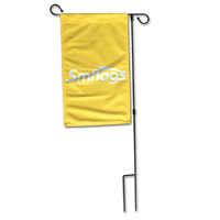 Personalized outdoor decorative polyester custom animal logo garden flag