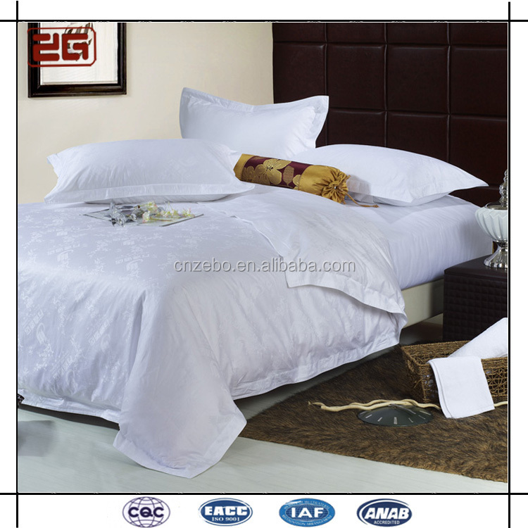5Star Modern Elegant 60*60S 330TJacquard /Embroidered Cotton Hotel Bedding Fitted Sheet