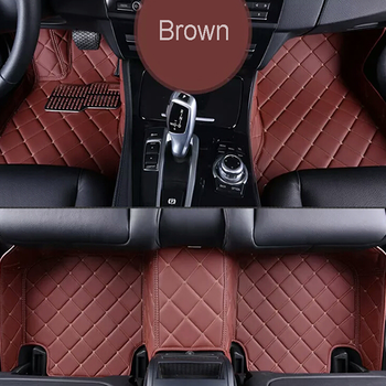 Decorative 2016 New Design Colorful 5D Leather Car Foot Mat with Favourable Price