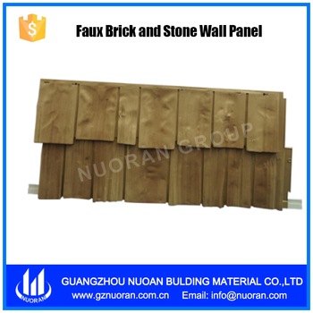 Faux Brick And Stone Wall Panel Of Cedar Image Wall Siding