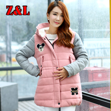HOT Autumn winter Korean maternity clothes with hood double pockets jackets for pregnant women large size
