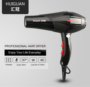 Hair dryer Black professional blow dryer Hot and cold wind hairdryer