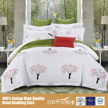 High Quality Pure Cotton Queen Size Bed forter Sets