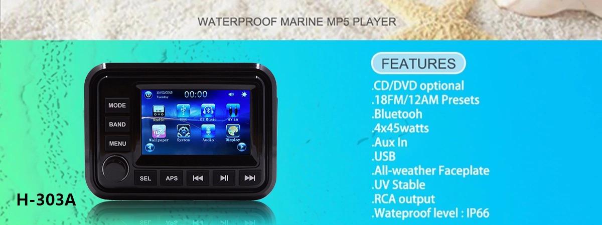Hasda Electric Ltd  - Marine Audio Waterproof Stereo MP3 Player Boat