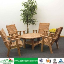 Wooden Cedar Chat Table and Chairs