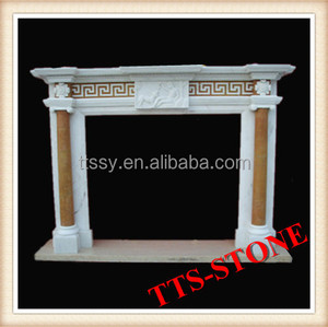 Pink Marble Fireplace mental, Ethanol fireplace frame