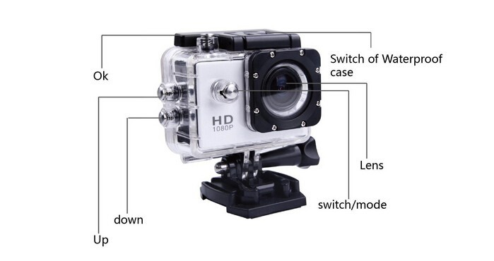 Best price sport Camera A7 SJ4000 HD 720P 1.5inch LCD 90 Degree Wide Angle Lens 30M Waterproof Mini Camcorders