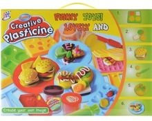 Large size Creative Play Dough toy DIY Hamburger mould kids toys