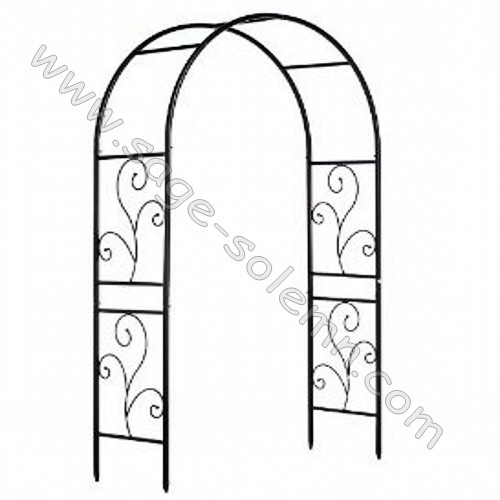 Arc en fer forg m tal tonnelle de jardin treillis arc - Arche de jardin leroy merlin ...