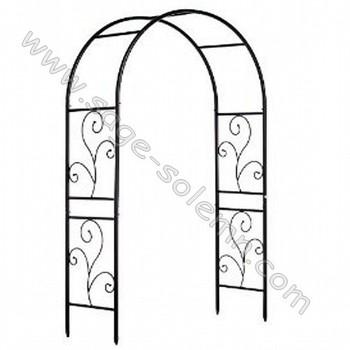 Wrought Iron Arch Metal Garden Arbor Trellis Arch Structures Steel ...