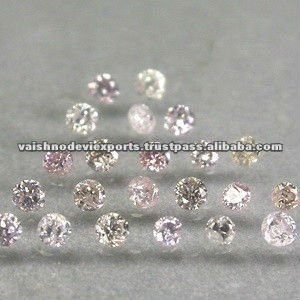 Round Fancy Pink Diamonds
