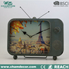 2014 hot selling tv shape design table alarm clock ,Antique design metal table clock