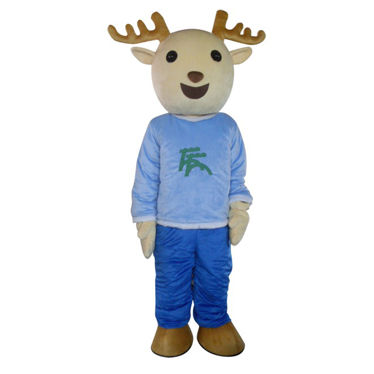 Free <strong>Freight</strong> Customized Easy Wash Christmas Deer Mascot Costume for Adults