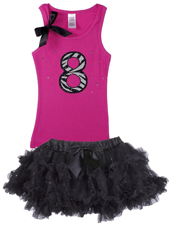 Bubblegum Divas Little Girls 2nd Birthday Pink Zebra Print Animal 2pc Outfit