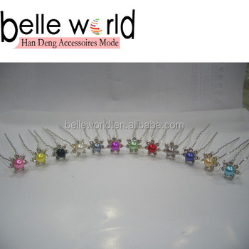 Multicoloured Pearls Hair Pin Stick Stylish Hair Fork