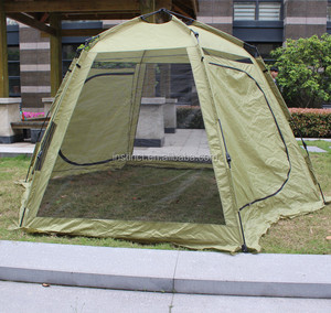 Double laye Mesh Type Auto Tent Camping Tent for family with fiberglass IM-A401