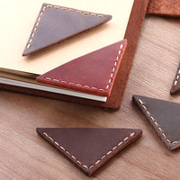 Custom Handmade Genuine Triangle Leather Corner Page Bookmark