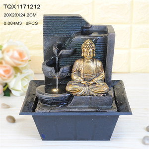 2017 Best selling religion resin buddha statue garden water fountain