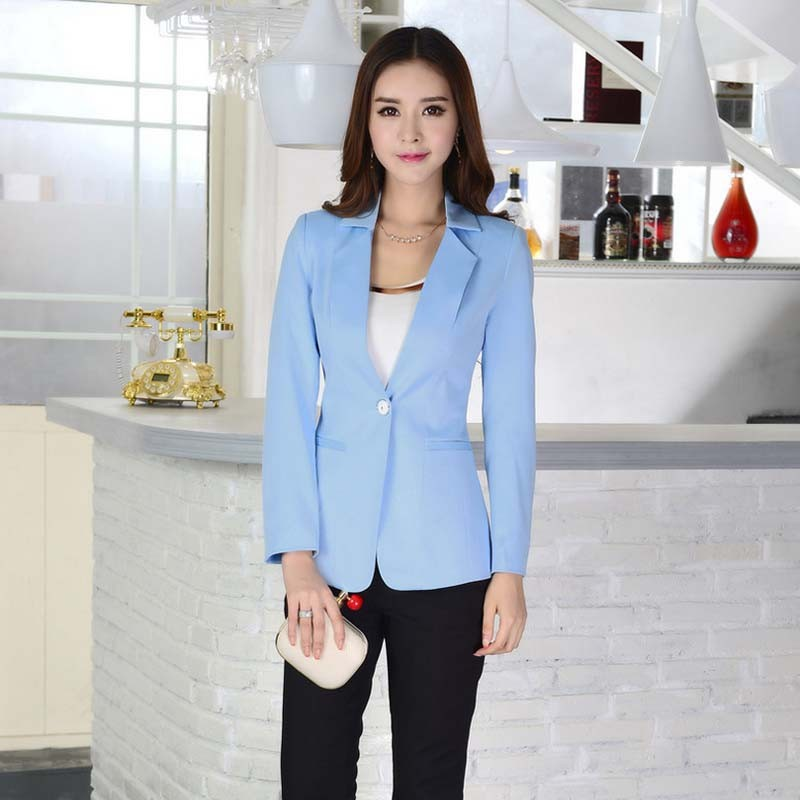 Wa5006 Office Manufacturer Light Blue Women Blazer - Buy Light ...