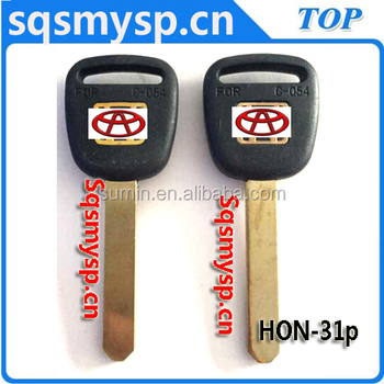 C-054 Plastic car key blanks manufacturerds HON-31P HD58P113 HON66GP Suppliers