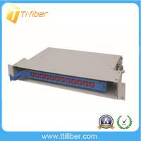 1U 12 Port Fiber Optic ODF For Netwrok Distribution , FC ST Fiber Optic Unit