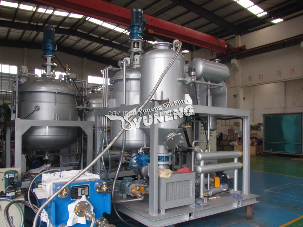 Black Base Oil Filtration Machine or Oil Refining Plant for Oil Decoloring/Black to Yellow