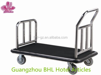 Stainless Steel Luggage Trolley Hand Cart For Hotel Lobby Xl-1 ...