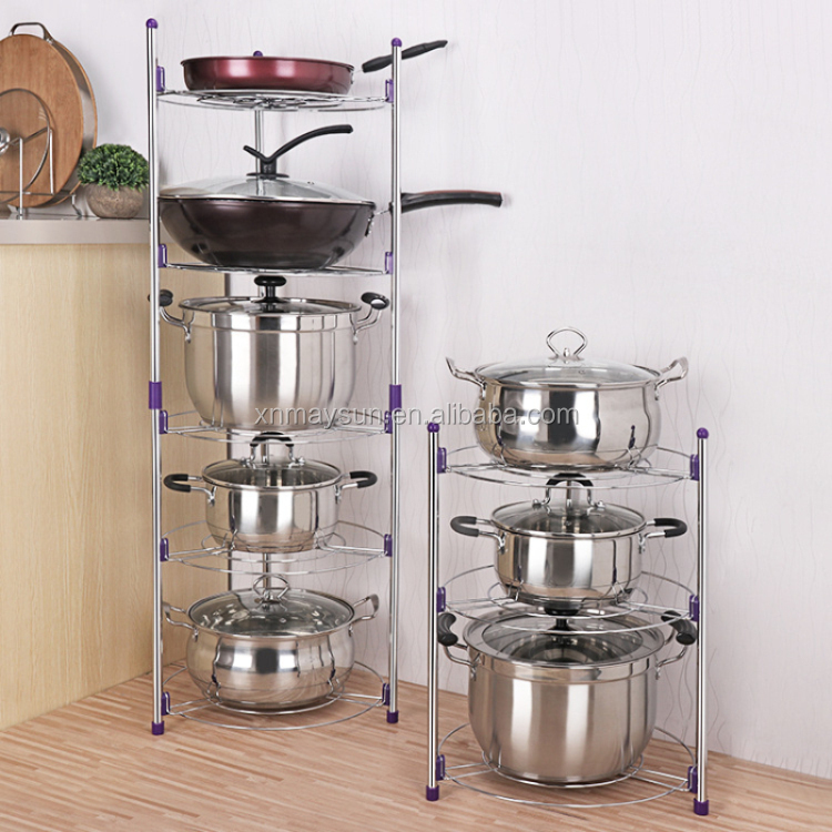 Chrome 5 Tier Cuisine Casserole Pot Rack Pan étagere unité rack