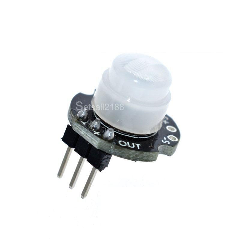 DC 3.3V-15V Mini Body Sensing PIR Sensor Module Pyroelectric Probe
