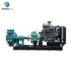 China high head horizontal diesel engine driven centrifugal slurry pump manufacturers
