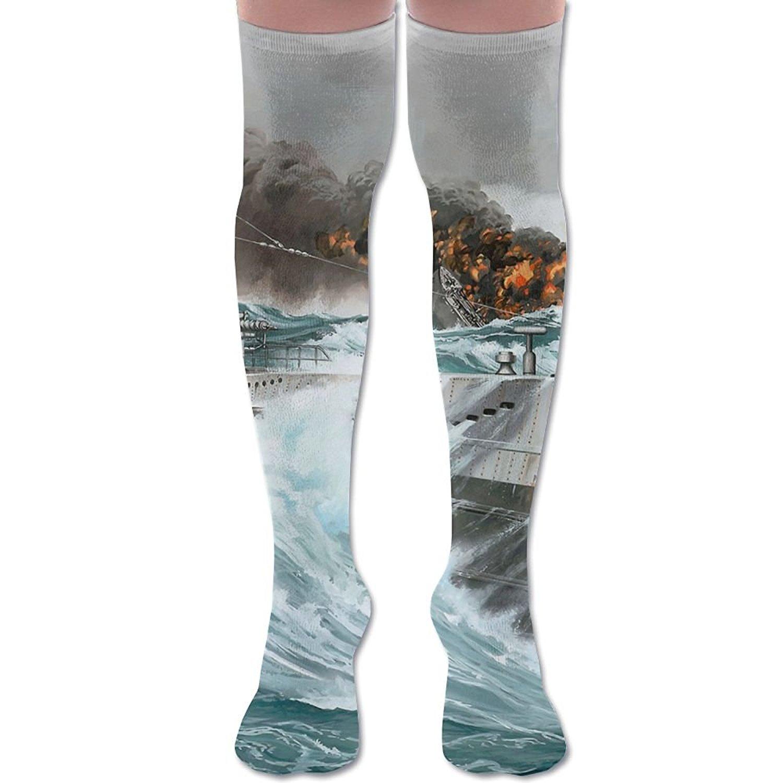 5e896310edf Get Quotations · XYMNZGS Funny Submarine Womens Socks Knee High Over The Knee  Socks For Soccer Mens Socks