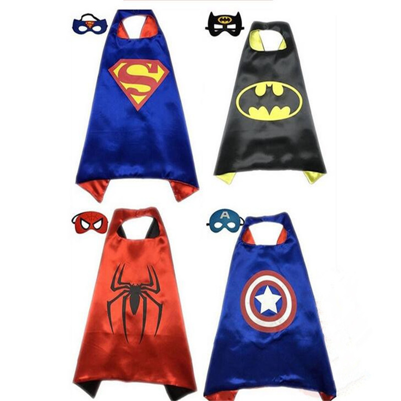 Factory Low Price Spiderman Ironman decoration for kids Halloween Christmas Cloth Cloak for Kid Baby