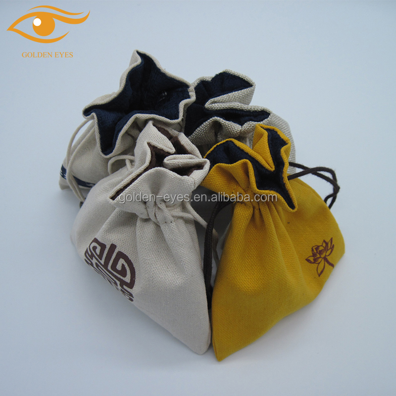 How to get a good price for drawstring cotton jewelry pouch bag