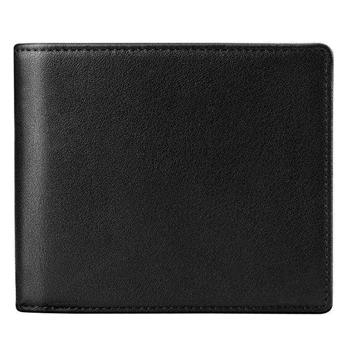 Mens Wallet Leather Ztotop Slim Bifold RFID Blocking Wallet with 2 ID Window card walet
