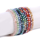 Yiwu jewelry factory wholesale crystal handmade rope glass beaded bracelet for women