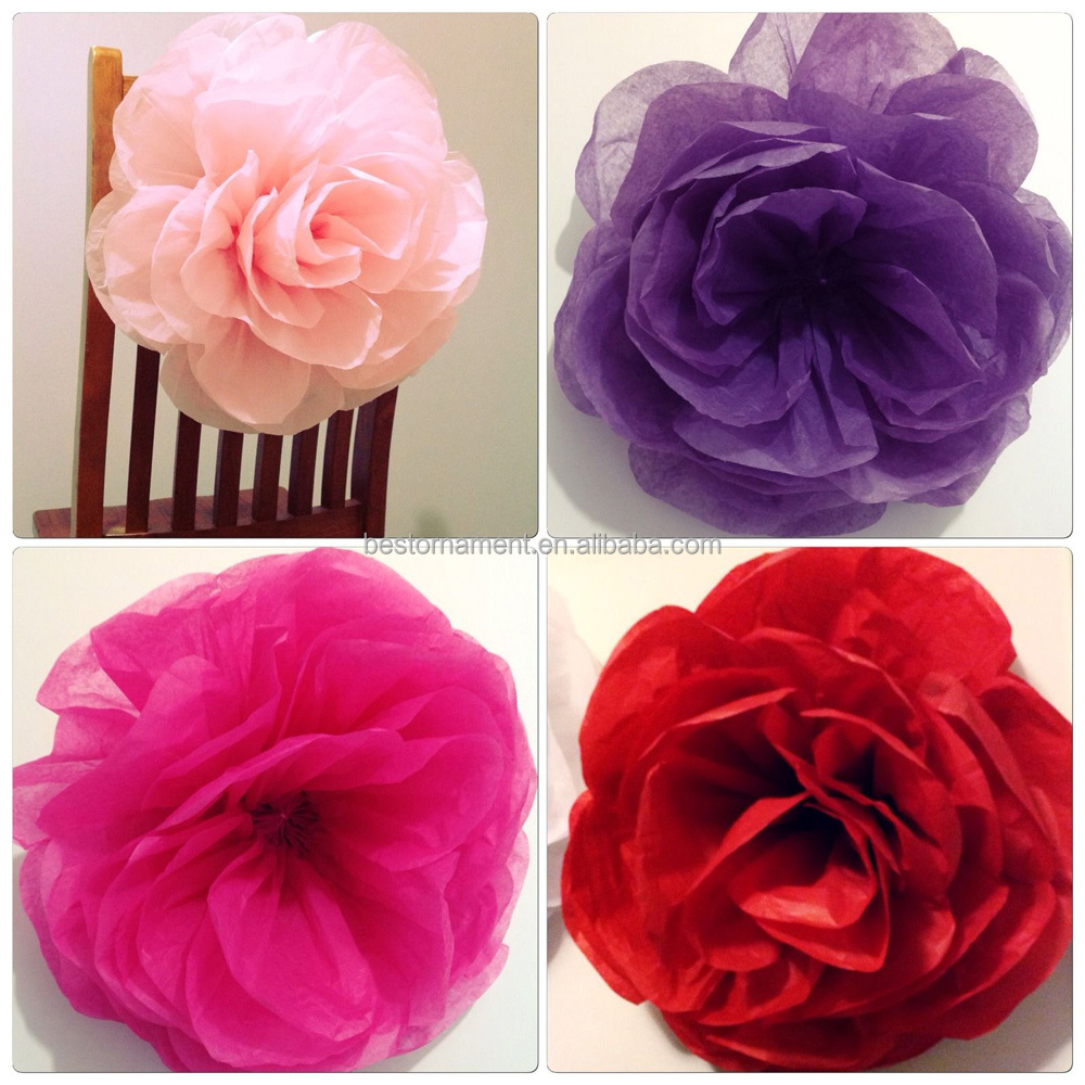 Paperbloomz Large Paper Roses Tissue Paper Flowers For Wall