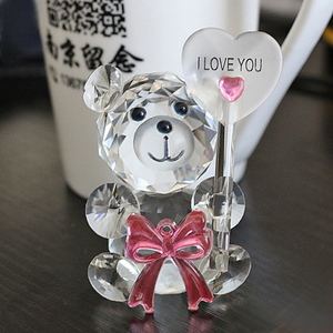 2017 Best Selling Crystal Teddy Bear Baby Shower Favors Gifts Souvenir HJT0006