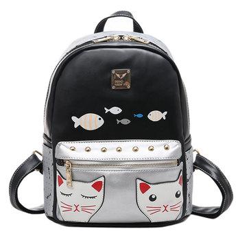 68c8987fde JIANUO fashion leather backpack cheap cute girls backpack bag