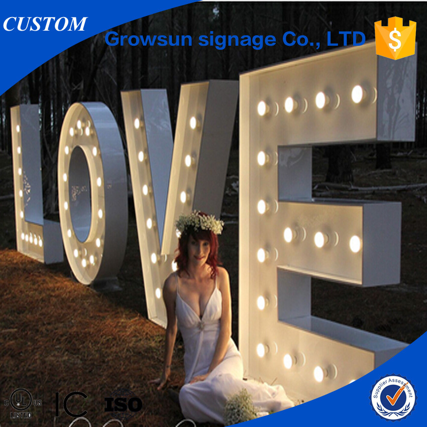 giant marquee letters bruiloft decoratieve bulb liefde marquee letters 14126 | Wedding decorative giant bulb love marquee letters