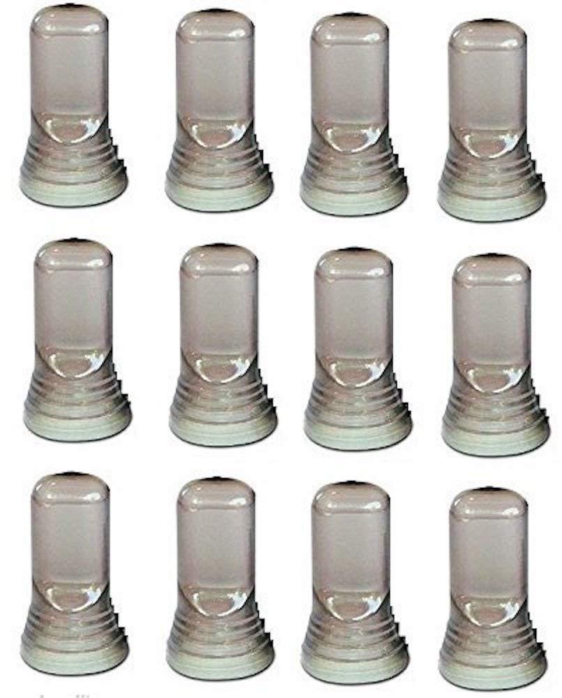 12 Universal Liquor, Wine Bottle, Olive oil Pour Spout Dust Caps Covers for Dust, Bugs, Fruit Flies Prevention! Smoke/Clear Dust Caps Cover Pour Spouts, Measure Pourers Dust Caps by Bartender Gear